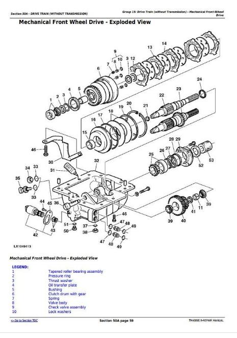 John Deere 6110R, 6120R, 6130R, 6135R Repair Service